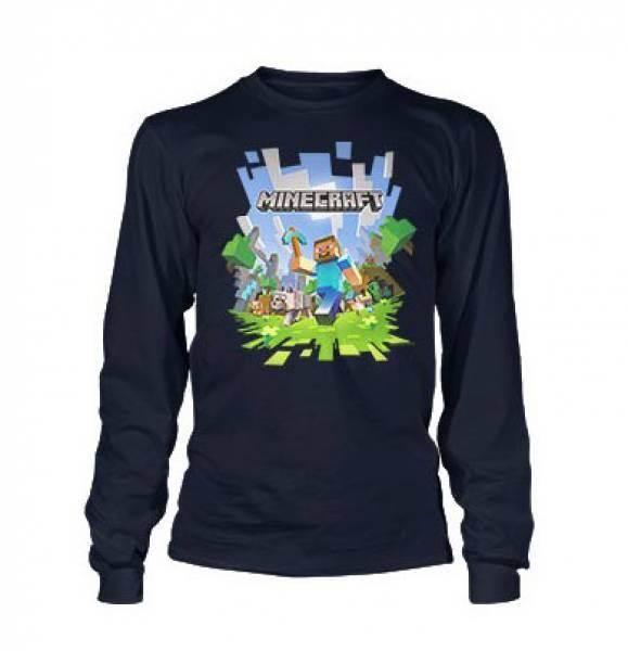 Minecraft – Dětské tričko s dlouhým rukávem Adventure 1155e3c282